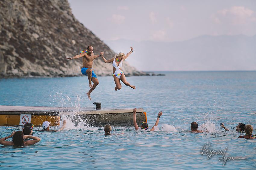 Cecile & Naji beach party Mykonos